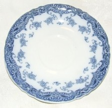 6 As Is Antique 1907 Meakin Olympia Flow Blue Saucers English Staffordshire - $24.00