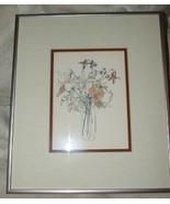 4 1980s Mary Lou Rich Goertzen Floral Botanical Prints Beautifully Frame... - $300.00