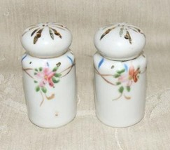 Vintage 1920s Japan SALT & PEPPER SHAKERS Hand Painted Florals & Gilt - $11.88