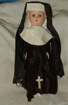 c1950's Hard Plastic NUN Doll with Cross 8.5 inches L@@K - $49.49