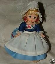 """Vintage 1977-92 Madame Alexander #591 NETHERLANDS GIRL 8"""" Doll Wooden Shoes - $25.00"""