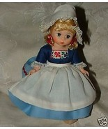 "Vintage 1977-92 Madame Alexander #591 NETHERLANDS GIRL 8"" Doll Wooden Shoes - $25.00"