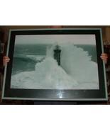 Jean Guichard Framed Art Print Lighthouse at Kereon France Phares dan le... - $125.00