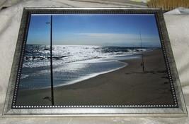 PHOTO South Beach FISHING RODS IN SAND Edgartown Martha's Vineyard MAssa... - $24.75