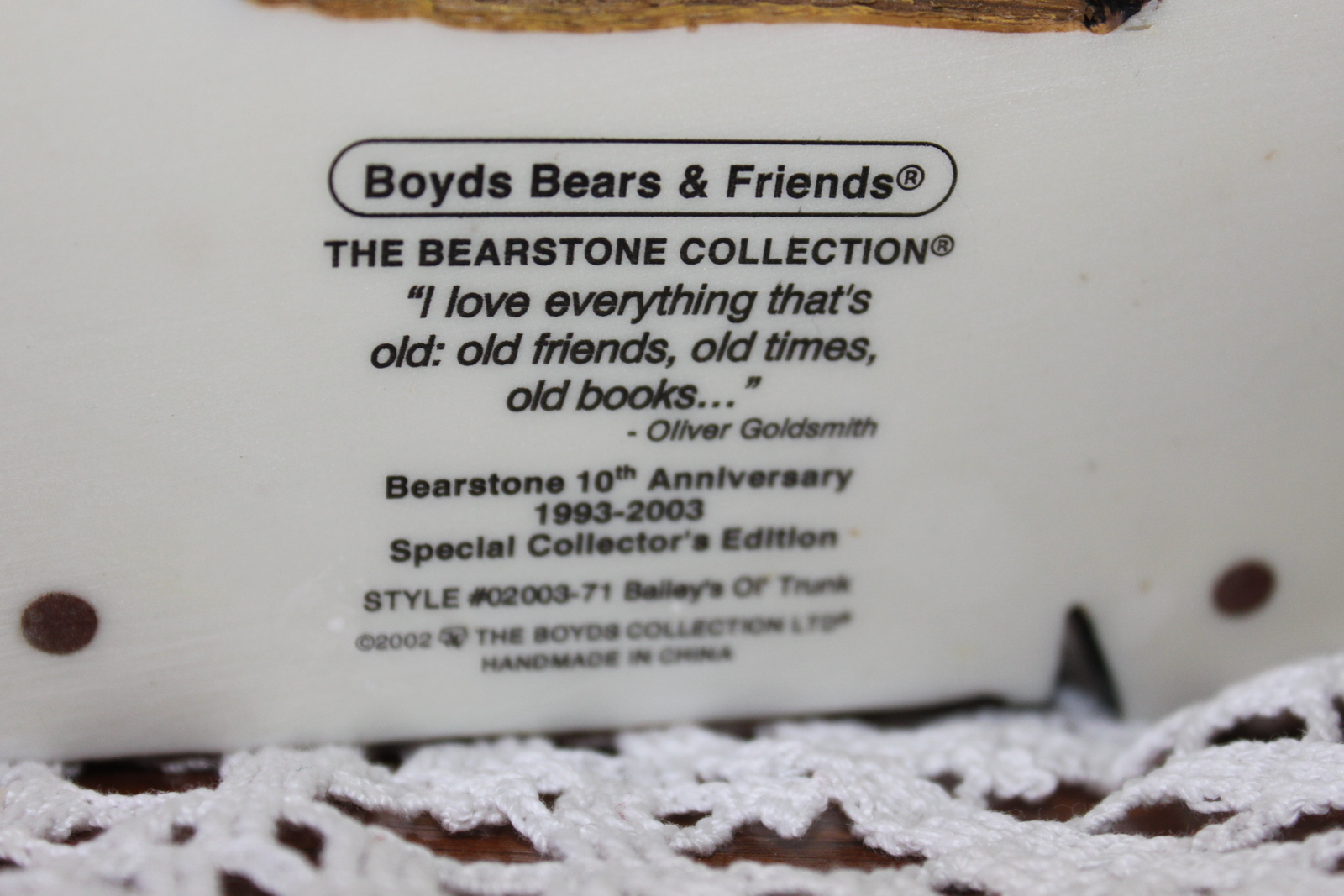 Boyds Bear Resin Soccer Bear 228307 Rocky Bruin... Score Score Score