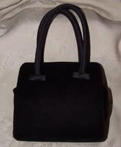 BEAUTIFUL Vintage Whiting and Davis Black Velvet Evening Purse Handbag Bag - $65.00