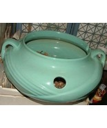 1940s Mint Green ZANESVILLE Pottery Art Deco POT Humidifier - £102.62 GBP