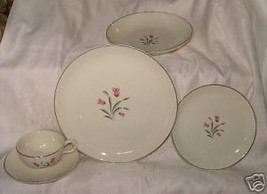 18 Vintage 1957 SALEM China TULIP TIME Extra Saucers MINT CONDITION L@@K - $34.65