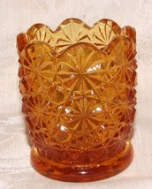 L G WRIGHT Daisy & Button Amber TOOTHPICK HOLDE... - $9.89