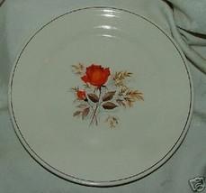 """1940s Sebring Vermillion Rose 9 1/2"""" Dinner Plate 7 Available - $10.00"""