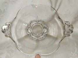 """1939-55 DUNCAN & MILLER Canterbury Two Handled Plate 9 5/8"""" Clear Heavy ... - $14.00"""