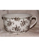 Minton's MALVERN CHAMBER POT Victorian Aesthetic Brown Floral Staffordshire - $133.65