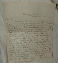 Alfred Clarence Sharpe Univ Wooster Ohio 1885 Letter - $74.25
