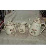 Victorian 19th Century MOSS ROSE Coffee Pot & Lid w/ 1 Pound Sugar & Lid... - $165.00