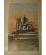 Lucien M Gautier 1880s+ Hand Tint Etching ABSIDE de NOTRE DAME de PARIS ... - $585.00