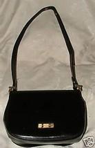 VINTAGE Bienen-Davis 1960s Black Leather Shoulder Bag Convertible Handba... - $225.00