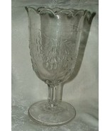 Antique c1860s-80s Boston & Sandwich OR McKee BARBERRY OLIVE Pattern Cel... - $65.00