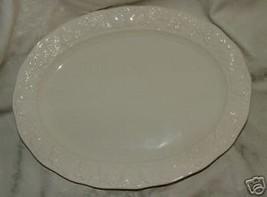 "HUGE Vintage 1960s White Japan Embossed Ceramic 18"" Platter Box Embossed... - $35.00"