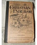 1891 United Soc Christian Endeavor GOSPEL HYMNS #6 Sankey Pilgrim Church... - $29.70