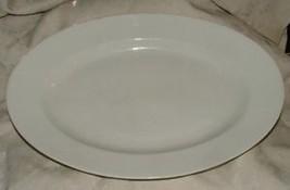 "Large Antique 15""+ Haviland Limoges White Ironstone Oval Platter 1876-89... - $25.00"