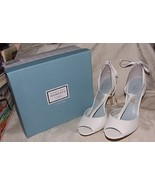 Lela Rose Unforgettable Moments 7 DIANA WHITE T-Strap Heels Bridal/Forma... - $50.00