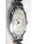 NEUCHATEL WRISTWATCH 1920s ART DECO 15 Jewel Ladies White Gold Fill 4 Sa... - $400.00