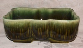 Retro UPCO 105 Dark Green Planter Ungemach Pottery Roseville Ohio 1937-8... - $24.74