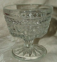 Vintage c1962+ 8 Anchor Hocking Wexford Champagnes or Tall Footed Sherbets Clear - $48.00