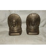 Antique Solid Cast Bronze Bookends Indian Chief Mission Arts & Crafts - $300.00