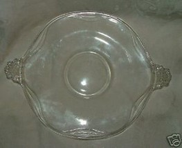 Vintage 1938-59 FOSTORIA Coronet 10 inch Clear Handled Cake Plate #2560 - $34.00