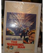 1963 THE RUNNING MAN Movie Poster Window Card Laurence Harvey Lee Remick - $25.00
