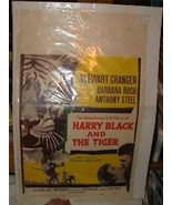 1958 HARRY BLACK AND THE TIGER Moie Poster Window Card Stewart Granger - $25.00