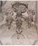 1940-58 CENTERPIECE Cambridge Colony ARMS Multi Tier EPERGNE Trumpet Vas... - $450.00