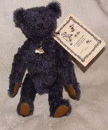 "2001 Lin Wildlife Friends Hand Made 8"" MOHAIR TEDDY BEAR Oliver w/ Fish ... - $100.00"