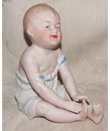 Antique 1882-91 German HEUBACH BROS PIANO BABY Bisque Figurine Germany L@@K - $345.00