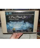 Vintage 1986 PUNCH SET Anchor Hocking ARLINGTON Original Box COMPLETE 26... - $136.00