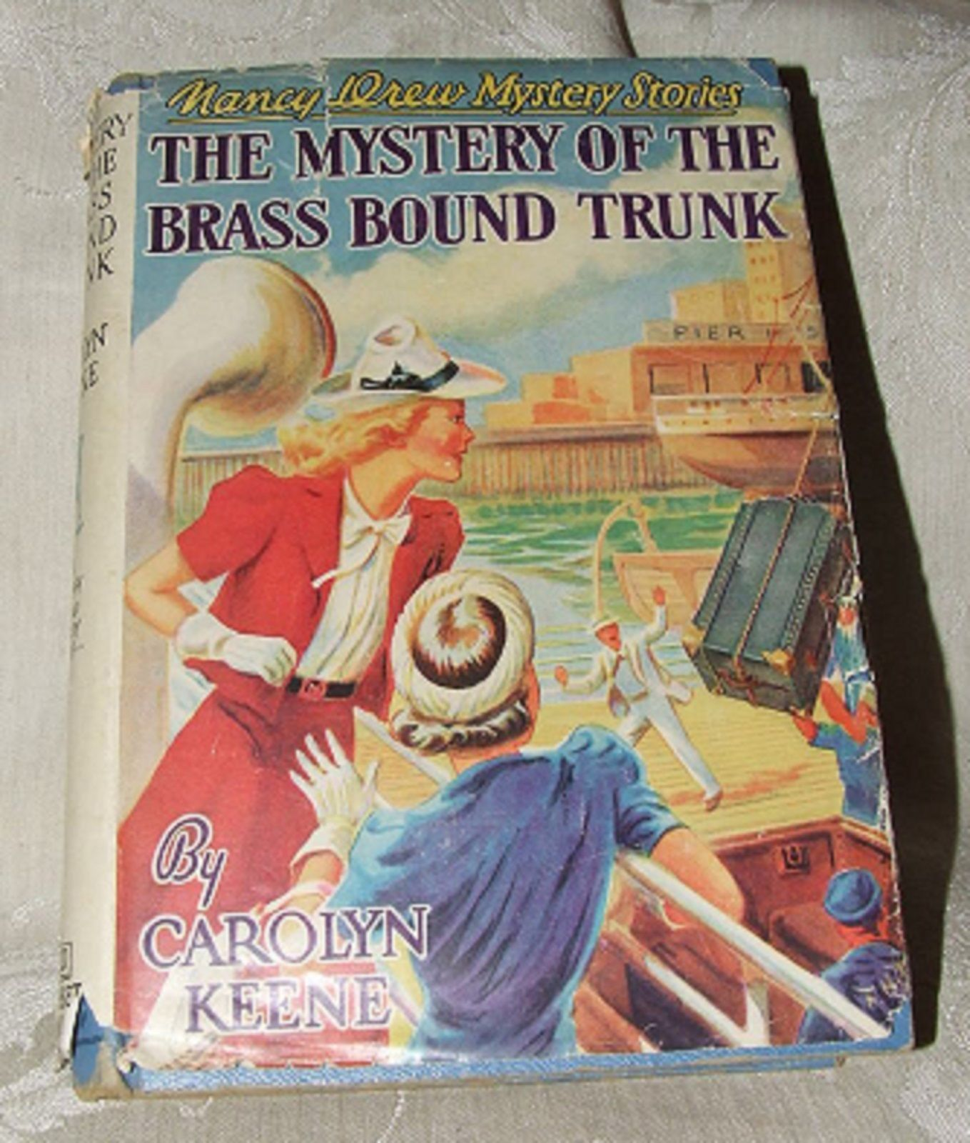 Primary image for 1947 NANCY DREW #17 Mystery of the Brass Bound Trunk by Carolyn Keene