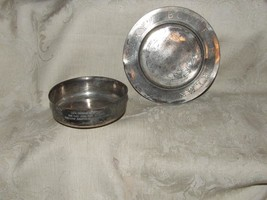 c1900 Wm A Rogers Silverplate CHILD's ABC Plate & Hey Diddle Diddle Bowl - $123.75