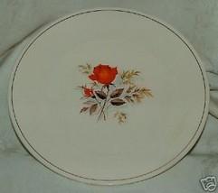 """1940s Sebring Vermillion Rose Large 10"""" Dinner Plate 1 Only - $12.00"""