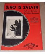 1935 Sheet Music WHO IS SYLVIA Franz Schubert William Shakespeare Ukelel... - $10.00