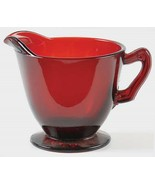 Vintage 1938+ Anchor Hocking Royal Ruby RED Footed Creamer - $10.00
