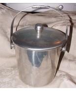 VINTAGE 1950s Henry & Miller Kraftware Aluminum ICE BUCKET Classic Clean... - $40.00
