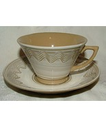 Vintage 1945-52 Occupied Japan 4 MODERN Sgraffito Decorated Cups & Saucers - $50.00