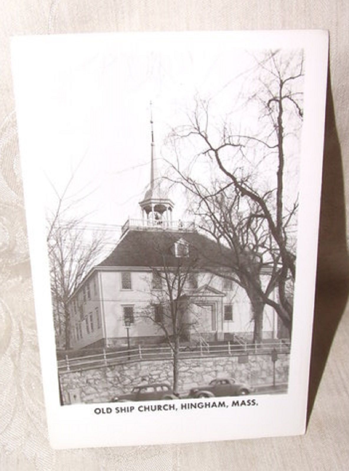 Primary image for 1950s Real Photo Postcard OLD SHIP CHURCH Hingham MAss
