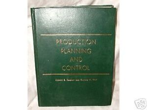 Primary image for 1967 1st Production Planning & Control by Donald Ramlow & Eugene Wall Near Fine