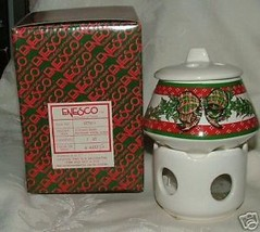 Vintage 1980s ENESCO Xmas Christmas Design Potpourri Room Scenter Pierce... - $10.00