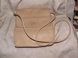 1995+ NINE 9 WEST Handbag Purse Shoulder Bag Light Tan Fawn Soft Leather - $50.00