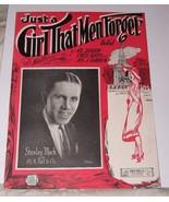 1923 Sheet Music JUST A GIRL THAT MEN FORGET A Ballad by A Dubin F Rath ... - $10.00
