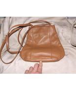 1995+ NINE 9 WEST Handbag Purse Shoulder Bucket Bag Tan Soft Leather - $50.00