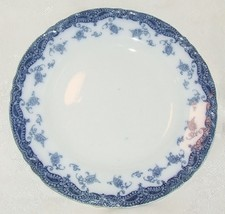 ANTIQUE 1907 MEAKIN OLYMPIA Flow Blue SALAD PLATE Staffordshire Fine Con... - $19.80